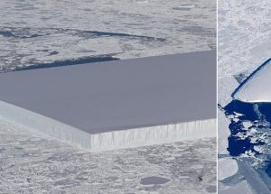 Strange Iceberg Spotted by NASA