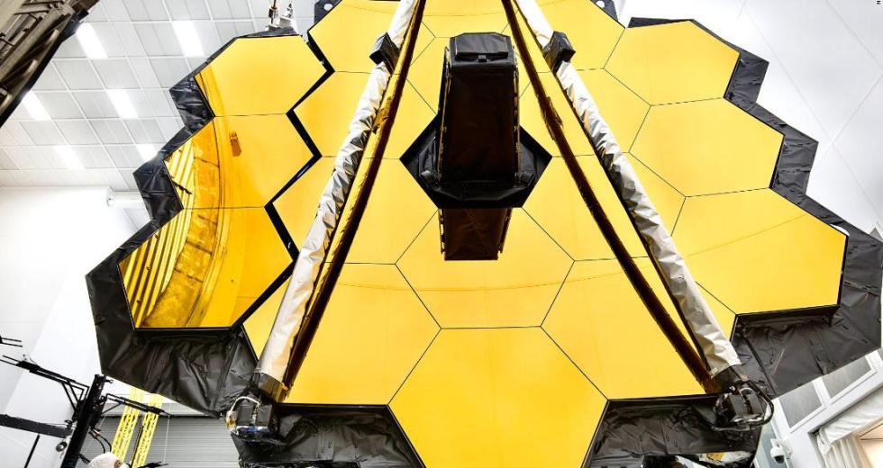 The James Webb Space Telescope Looks Unexpectedly Shiny