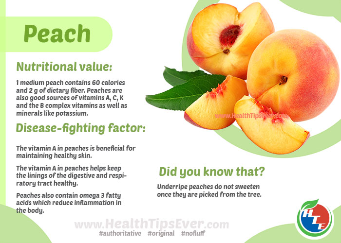 Peach Health Benefits with Infographics – Health Tips Ever ...