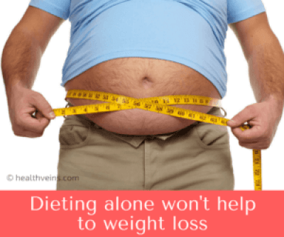dieting alone wont help to weight loss