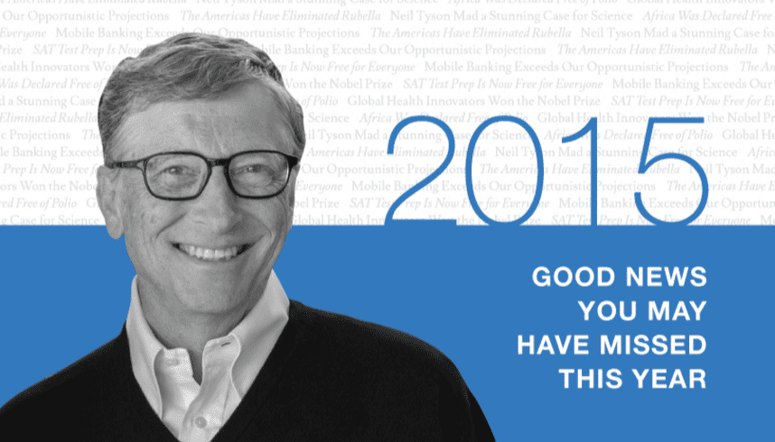 13 Good Things to Be Grateful For, According to Bill Gates