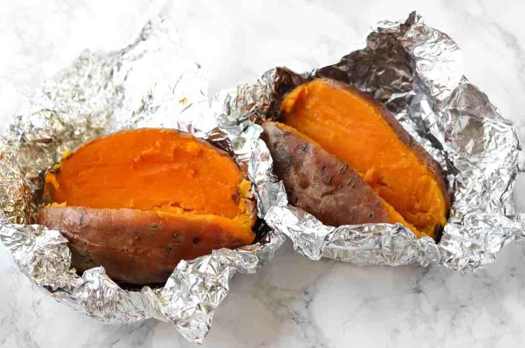 baked sweet potatoes for healthy sweet potato casserole