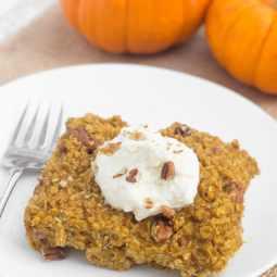 Pumpkin Pecan Baked Oatmeal