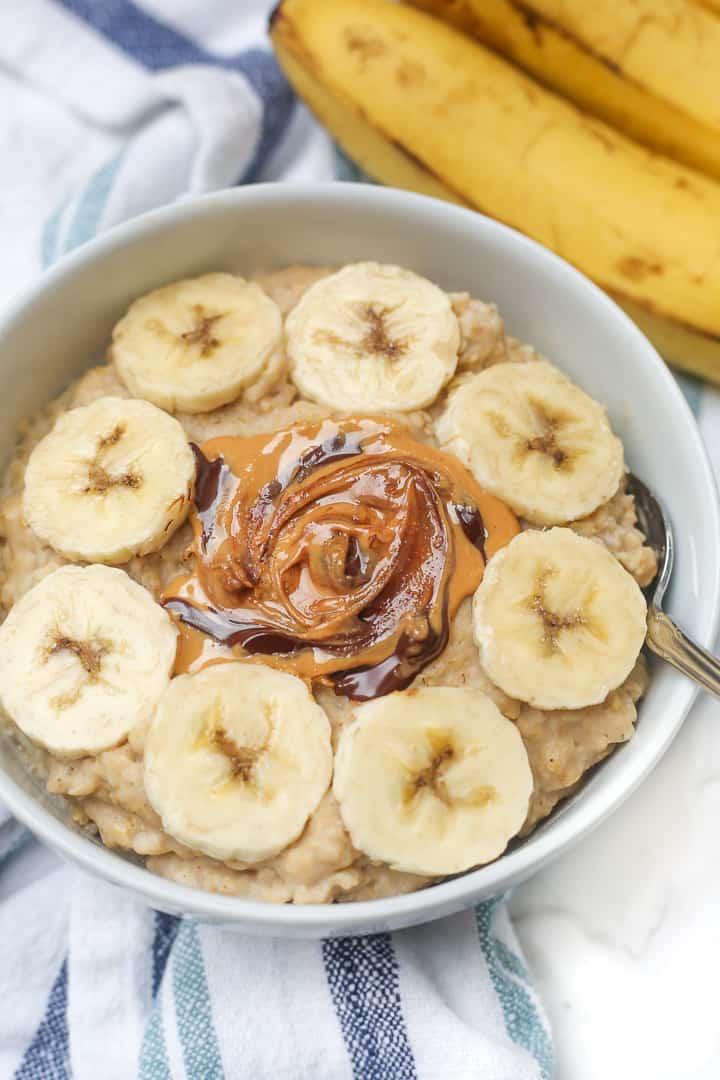 3 minute peanut butter egg white oatmeal