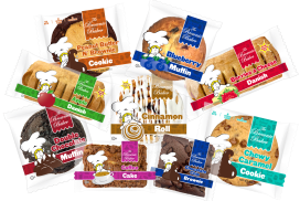 The Brownie Bakers' ever expanding product line includes a variety of gourmet Brownies, Cakes, Cookies, Danish Cinnamon Rolls and Muffins!