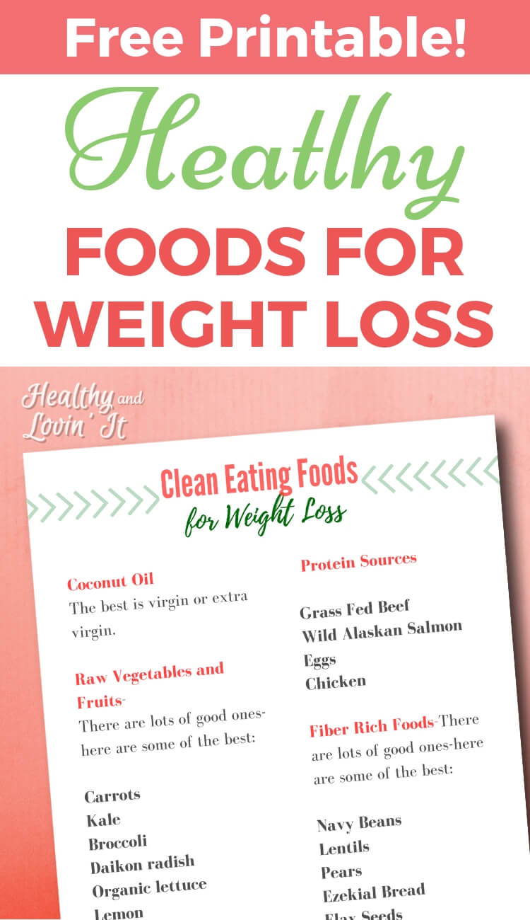 Printable Clean Eating Grocery List for Weight Loss - Healthy and ...