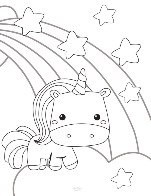 Free Unicorn Coloring Pages - 20 Super Cute Designs
