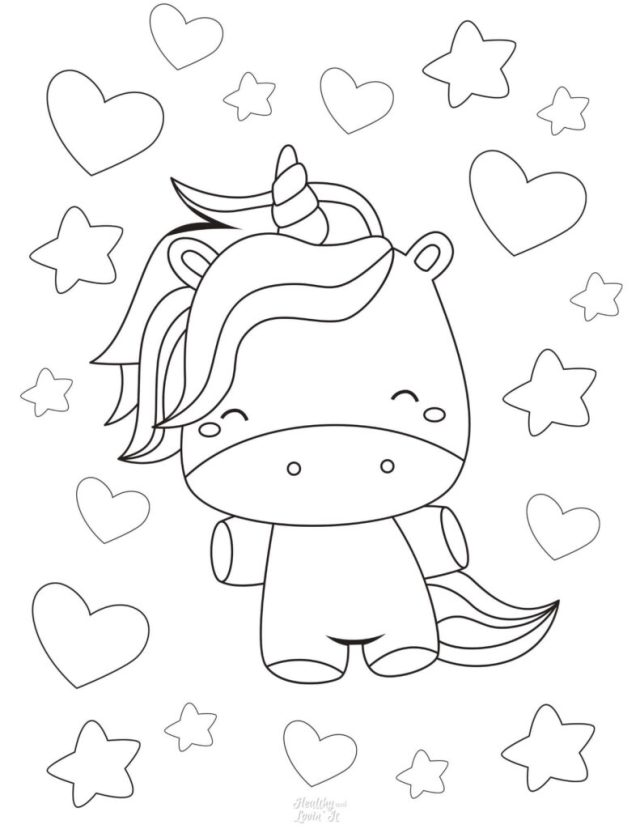 Free Unicorn Coloring Pages - 16 Super Cute Designs