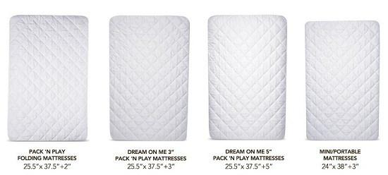 Acc Pack N Play Crib Mattress Pad Cover
