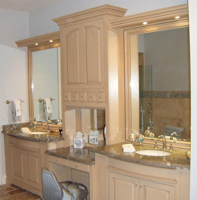 Custom Bathroom Vanities Nh custom bathroom double vanities : brightpulse