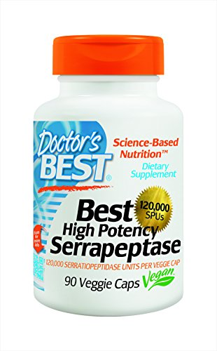 Doctor's Best High Potency Serrapeptase (120,000 Units), 90-Count