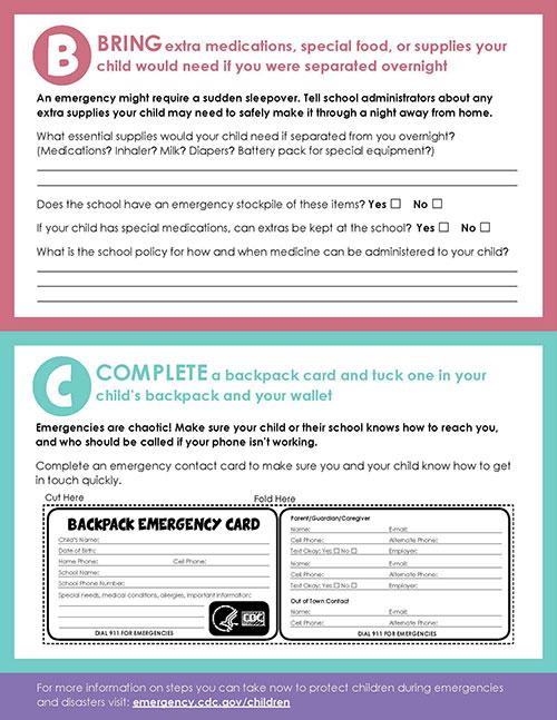 Worksheet Emergency Situations