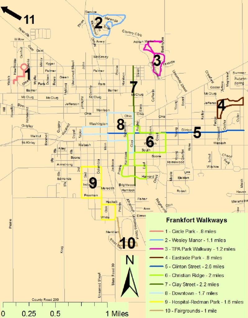 Walkways map