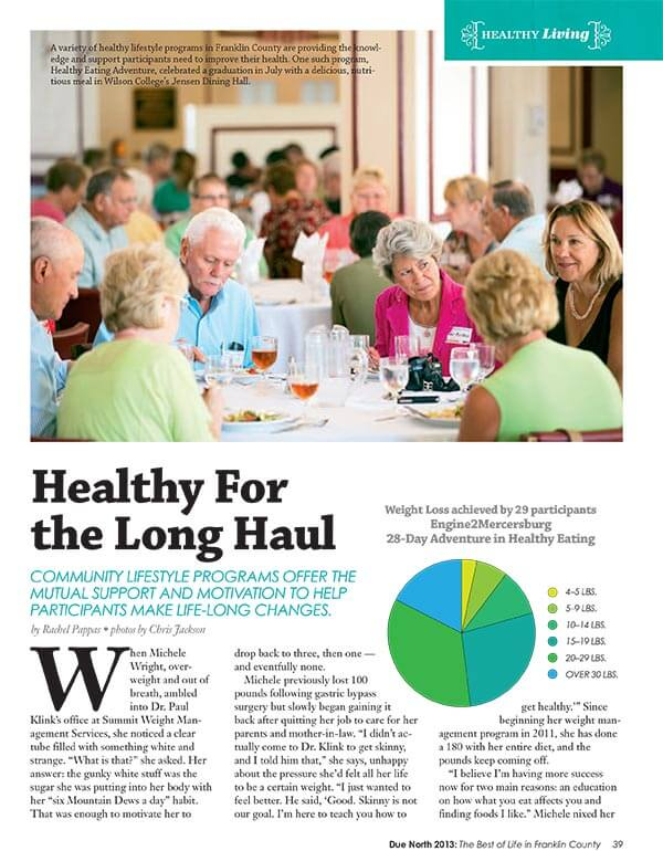 Healthy for the Long Haul article
