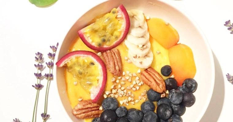 Porridge froid à l'abricot
