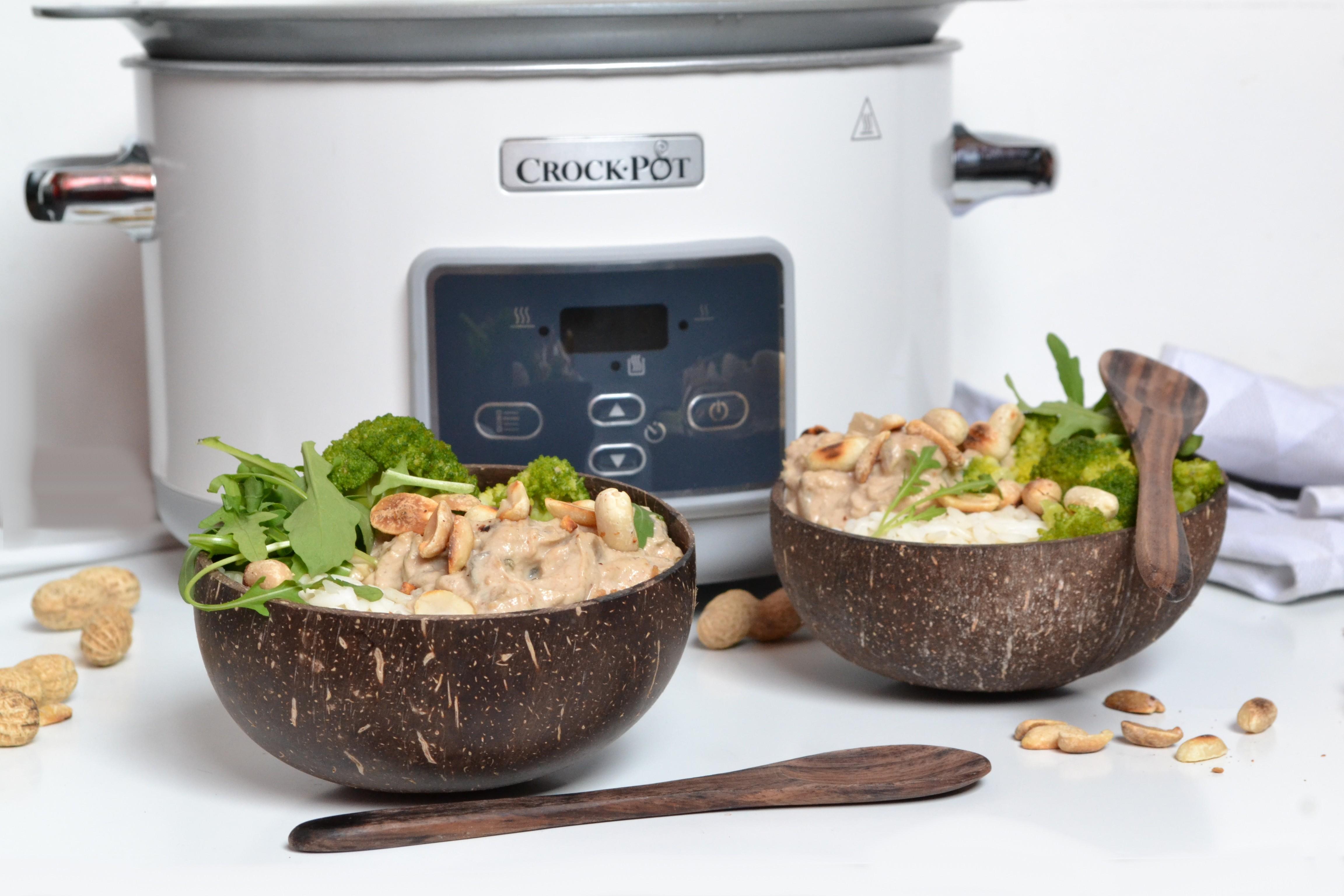 Poulet mijoté aux arachides, avec la mijoteuse électrique Crock-Pot