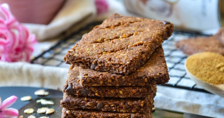 Biscuits aux flocons d'avoine et chocolat, vegan et sans gluten