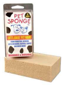Pet Sponge lifts away pet hair and so much more