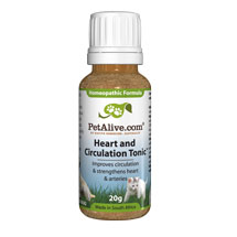 Pet Alive Heart and Circulation Tonic - herbal and homeopathic remedy for healthier heart and circulation