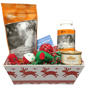 Holiday Gift Basket for Cats
