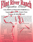 Salmon Grain Free Dog Food by Flint River Ranch