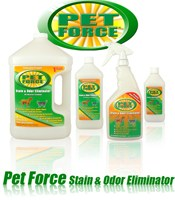 Pet Force removes nasty stains and odors, even skunk odors!