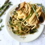 Mushroom & Asparagus Spaghetti