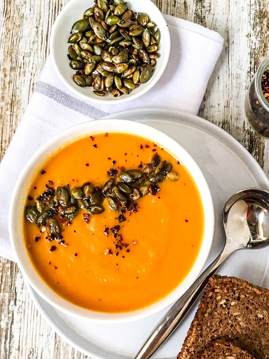 squash and coconut soup