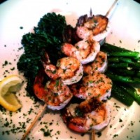 Grilled Shrimp Skewers with Broccolini
