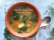 Sprouted Mung Bean Potato Kale Soup