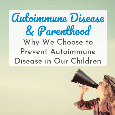 child holding megaphone with text overlay - Autoimmune Disease & Parenthood: Why We Choose to Prevent Autoimmune Disease in Our Children