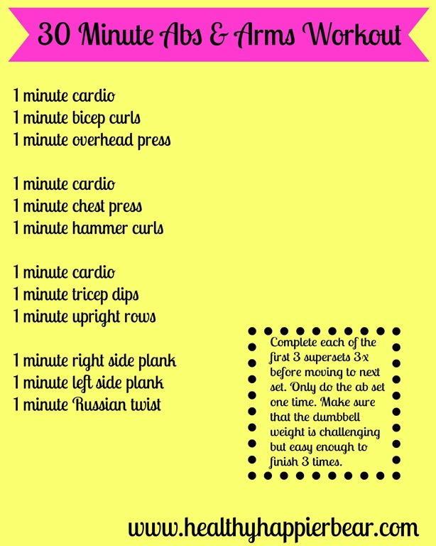 Thirty Minute Arms Abs Workout