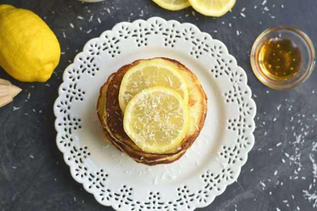Honey Lemon Coconut Flour Pancakes