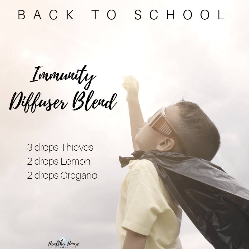 immunity diffuser blend with thieves lemon and oregano