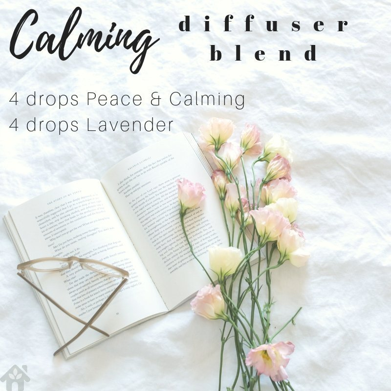 calming diffuser blend with peace and calming young living blend and lavender essential oil