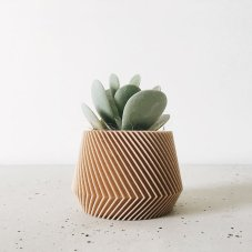 Indoor wood plant pot planter