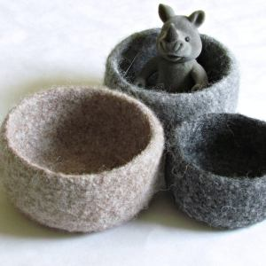 Eco Friendly felted wool bowls