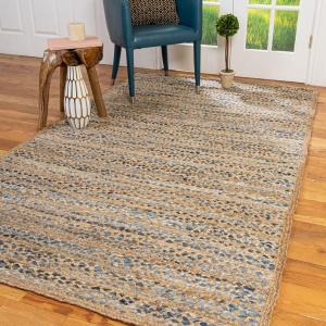 Cotton and Jute Blend Rug