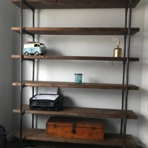 Etsy Zero VOC Bookcase with Reclaimed Wood