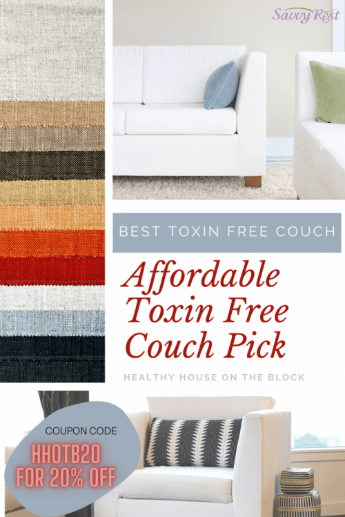 savvy rest toxin free couch pick with 20% off coupon