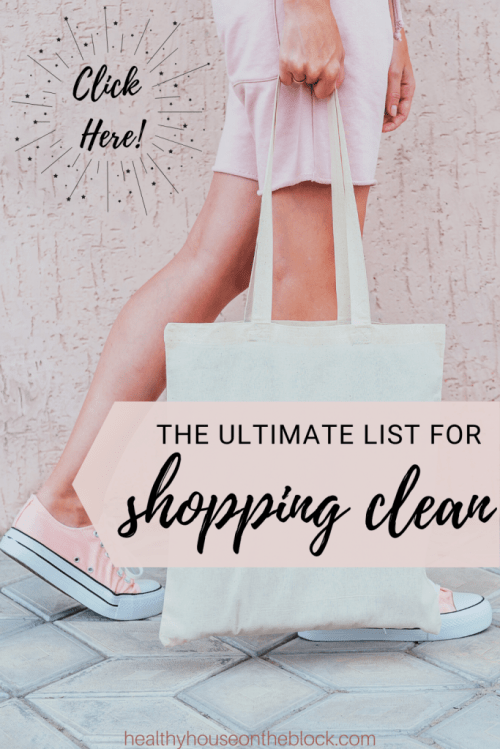 My ultimate clean shopping list guide