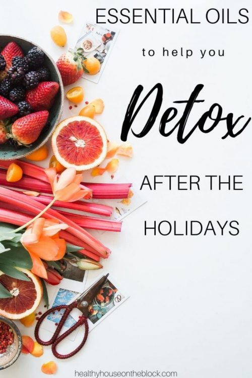 essential oils to help you detox after the holidays
