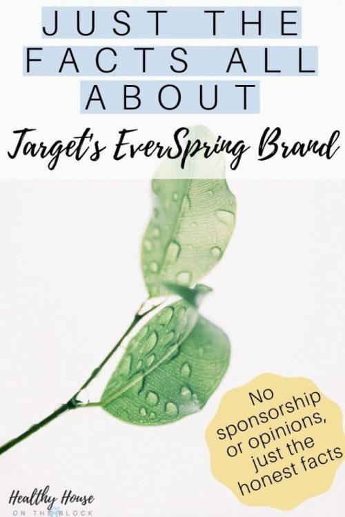 target everspring brand safe ingredients