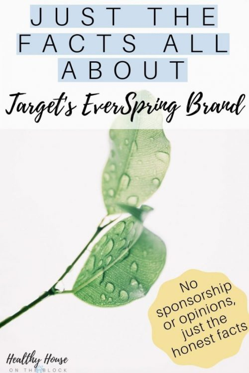target everspring brand safe ingredients