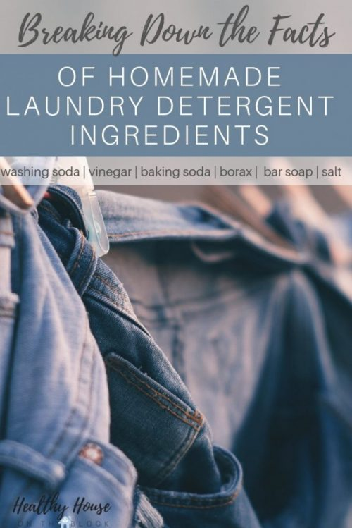 homemade laundry ingredients