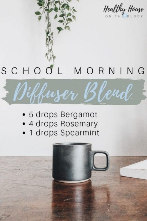 school morning diffuser blend with bergamot, rosemary and spearmint essential oil