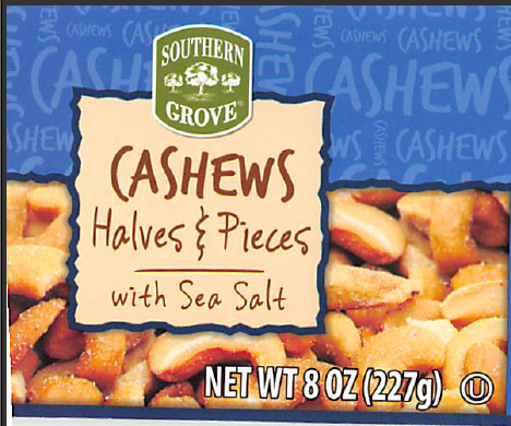 Star Snacks Co. is voluntarily recalling two lots of Southern Grove Cashew Halves and Pieces with Sea Salt