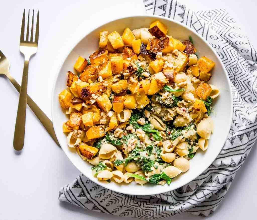 Butternut Squash + Spinach Pasta