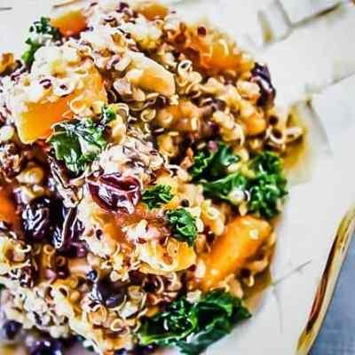 Kale + Raisin + Mushroom + Sweet Potato Quinoa