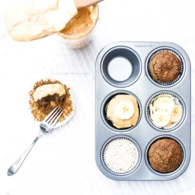 Breakfast Banana Oatmeal Cupcakes